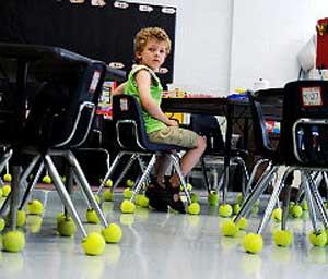テニスボール椅子