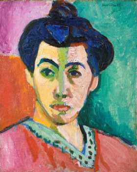 緑のすじのあるマティス夫人の肖像(1905年)