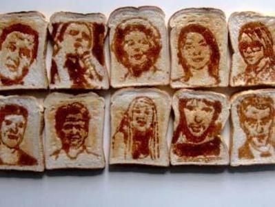 パンを焼いて描く「トーストアート」06