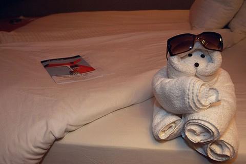 ホテルのタオルで折り紙07