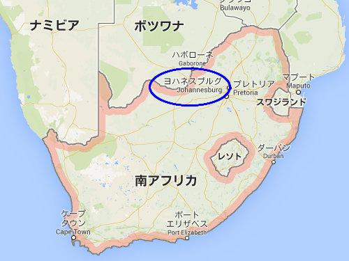 南アフリカの円柱のスラム街00
