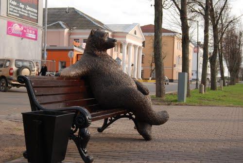 ロシアのクマの像07