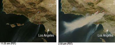 カリフォルニアの山火事の衛星写真02