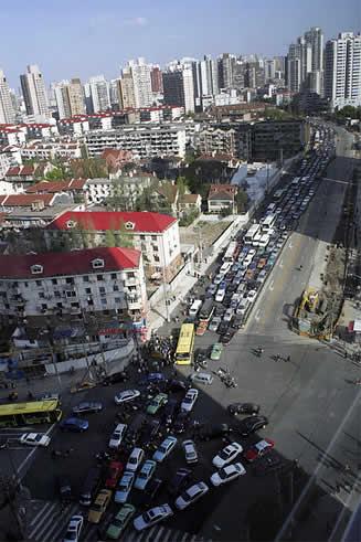 世界各国の渋滞-上海