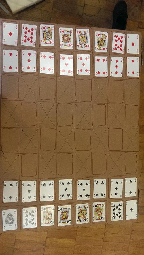 トランプでチェスをする方法01
