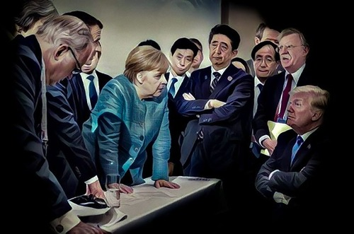 G7での張り詰めた空気02