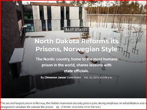 アメリカの刑務所がノルウェーを見習って結果
