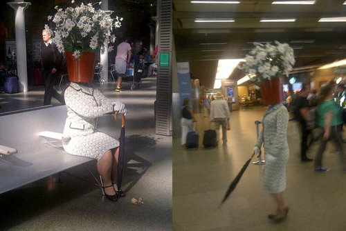 植木鉢をかぶった謎の女性02