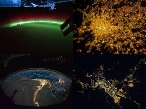 ISSから見た夜景00
