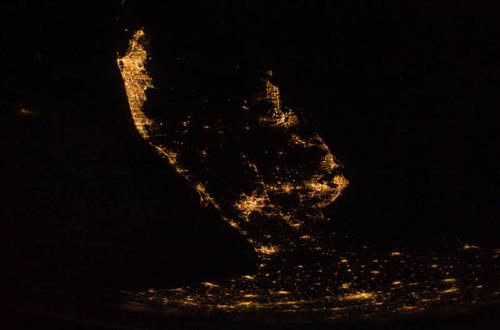 ISSから見た夜景21