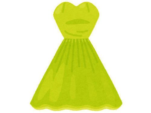葬式に明るいグリーンのドレス00