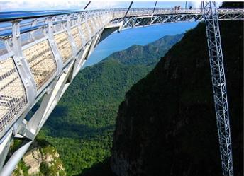 ランカウイ山頂のつり橋06