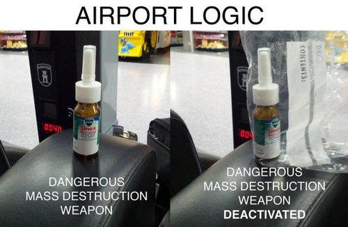 空港で見かける奇妙な事 01