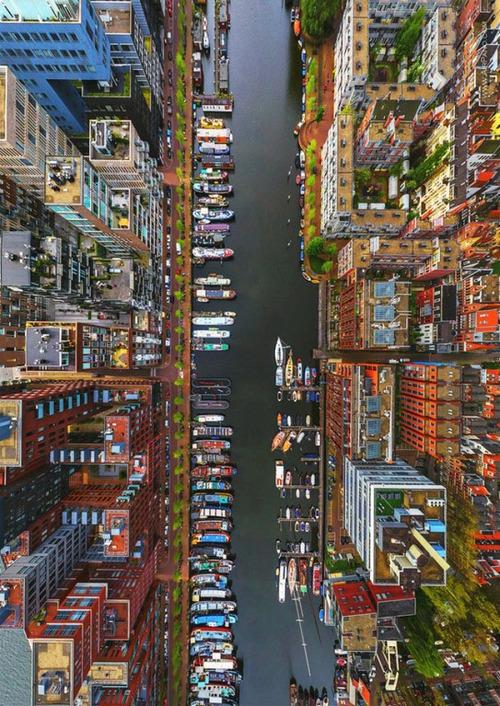 上空から見たアムステルダム01
