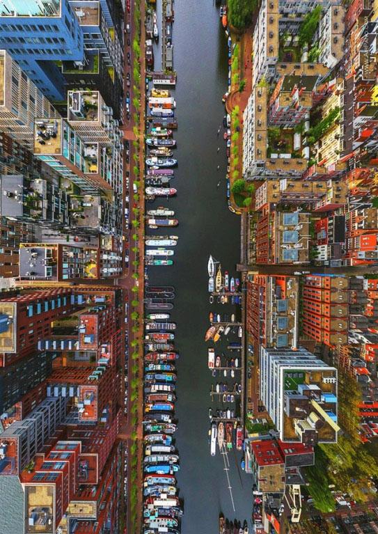 上空からのアムステルダム
