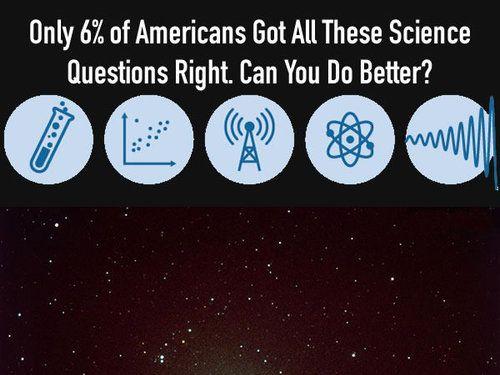 アメリカ人の6%しか正答できなかった科学13