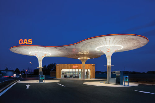 スロバキアのガソリンスタンド01