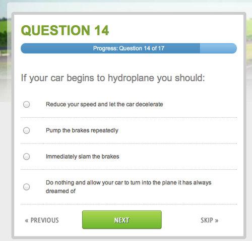 アメリカの自動車免許の問題01