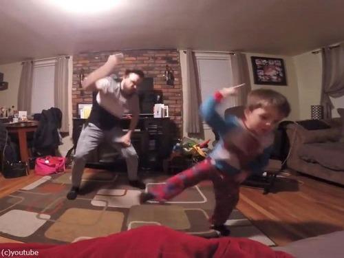 世界一キュートな父と息子のダンス00
