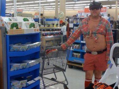 スーパーの客