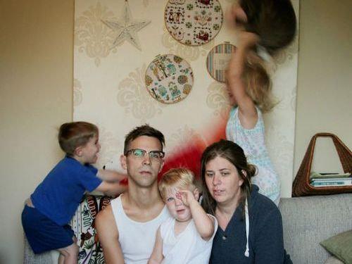 家族写真は大変00