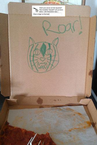 ピザのデリバリーの絵10