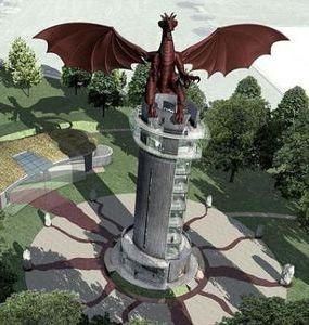 ウェールズのレッドドラゴン像01