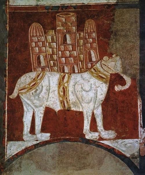 中世の想像で描かれたゾウ10
