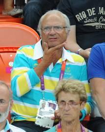 スウェーデン王と女王のオリンピック応援06