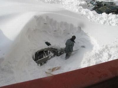 雪の中01