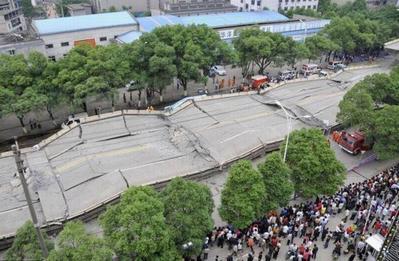 中国・高架橋事故01