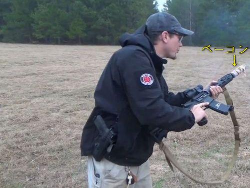 軍用ライフルの銃身のまわりにベーコンを包んで撃ったら00