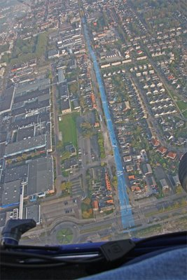 真っ青に染めてしまったロッテルダムの建物11
