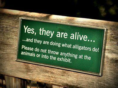 動物園の面白標識05