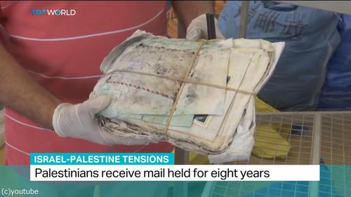 8年間ブロックされていた10トンの郵便物がパレスチナに02