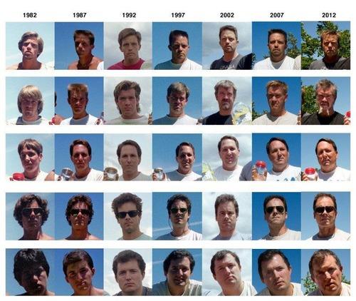 5人組が5年ごとに30年同じ写真09