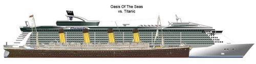 現代の豪華客船とタイタニックを比較03