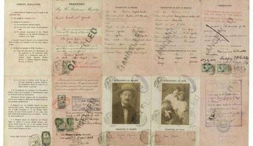 歴史上の有名人のパスポート16