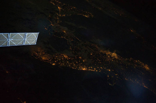 ISSから見た夜景20