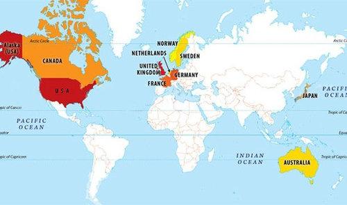 世界地図いろいろ23