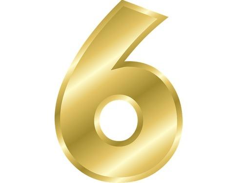 あなたは数字の6はどう書きますか