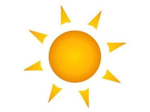 太陽と張り紙00