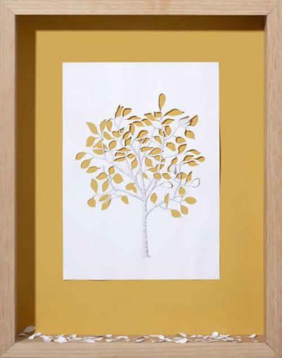 美しく繊細なペーパーアートの世界-落ち葉
