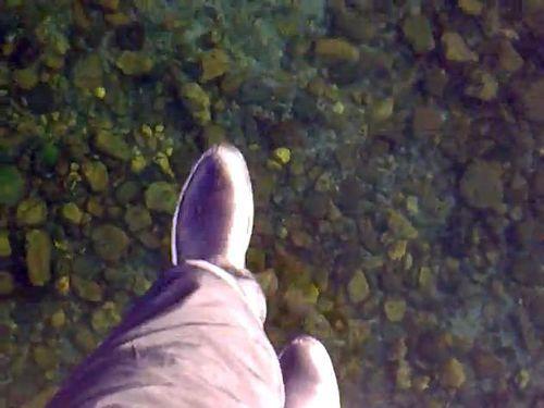 バイカル湖の透明な氷