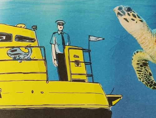 絵本の潜水艦の船長02