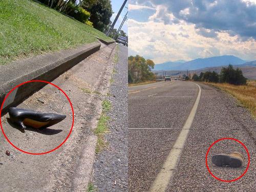 高速で靴を片方失くした人00