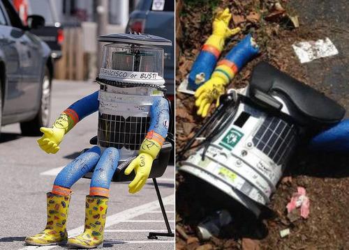 ロボットにヒッチハイク03