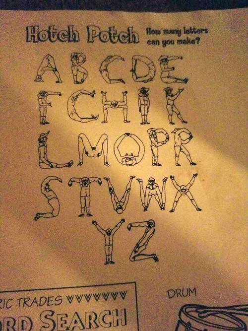 子ども向けアルファベット体操01