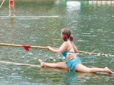 竹1本で川下り05