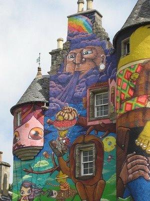 落書きされたスコットランドの古城10